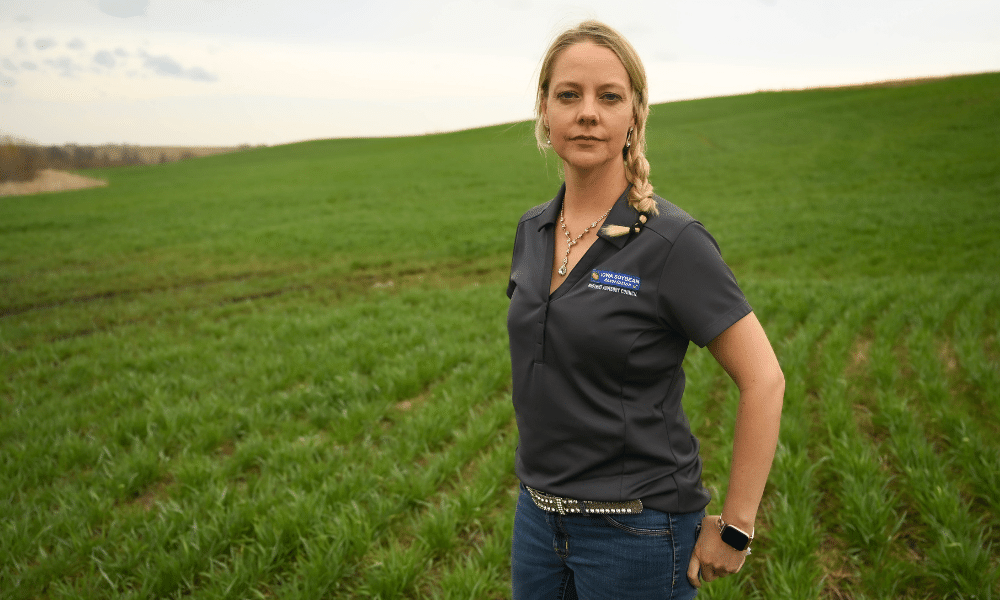 Aimee Bissell on her farm