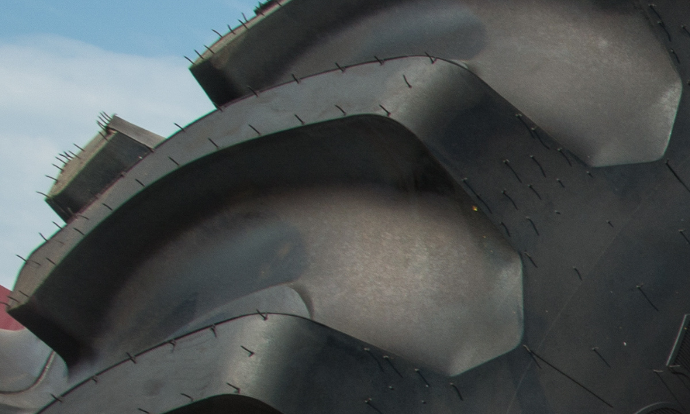 Closeup of soy-based tire