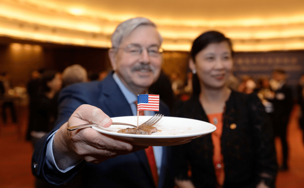 Former Ambassador to China Terry Branstad poses for a p