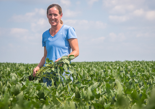 ISA director and farmer Steph Essick stands in her field.